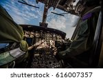 control panel in military... | Shutterstock . vector #616007357