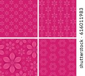 seamless floral patterns on... | Shutterstock .eps vector #616011983