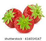 strawberry isolated on white... | Shutterstock . vector #616014167