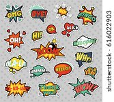 fashion badges  patches ... | Shutterstock .eps vector #616022903