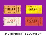 Ticket Icon Vector Set...