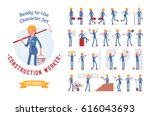 ready to use character set.... | Shutterstock .eps vector #616043693