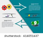 time line info graphics... | Shutterstock .eps vector #616051637