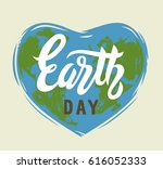 earth day vector 22 april... | Shutterstock .eps vector #616052333