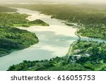Aerial View Of Panama Canal On...