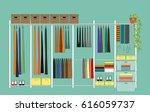 modern dressing room with... | Shutterstock .eps vector #616059737