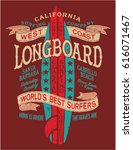 classic longboard surf contest  ... | Shutterstock .eps vector #616071467