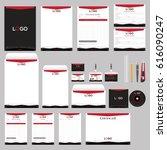 stationary and branding...   Shutterstock .eps vector #616090247