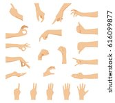 set of hands in different... | Shutterstock .eps vector #616099877
