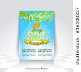 vector spring sale concept ad ... | Shutterstock .eps vector #616100327
