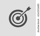 target arrow vector icon eps 10.... | Shutterstock .eps vector #616101683