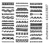 collection of hand drawn... | Shutterstock .eps vector #616115837