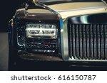 headlight of a modern luxury...   Shutterstock . vector #616150787