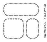 set of black chain frames... | Shutterstock .eps vector #616159463