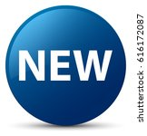new isolated on blue round... | Shutterstock . vector #616172087