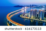 busan gwangandaegyo bridge or... | Shutterstock . vector #616173113