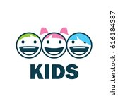 children logo design template.... | Shutterstock .eps vector #616184387