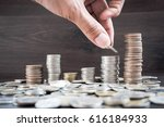 tower coin put together. ... | Shutterstock . vector #616184933