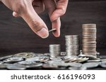 a lot of money is placed in...   Shutterstock . vector #616196093