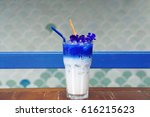 Iced Butterfly Pea Latte With...