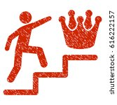 grunge person steps to crown... | Shutterstock .eps vector #616222157