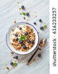 cereals breakfast with... | Shutterstock . vector #616233257