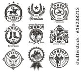 set of rodeo logos  badges with ... | Shutterstock . vector #616238213