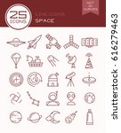 line icons space | Shutterstock .eps vector #616279463
