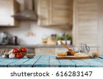 baking ingredients placed on... | Shutterstock . vector #616283147