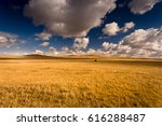 beautiful landscape with golden ... | Shutterstock . vector #616288487