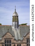 Small photo of The gasolier vent on the roof of Gladstone's Library