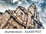 old church and bell tower in... | Shutterstock . vector #616307927