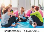 group of women hanging out...   Shutterstock . vector #616309013