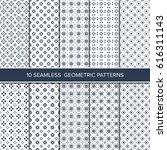 set of monochrome seamless... | Shutterstock .eps vector #616311143