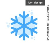 vector icon snowflake
