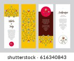 vector ornate vertical cards in ... | Shutterstock .eps vector #616340843