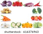 vegetables frame copyspace copy ... | Shutterstock . vector #616376963