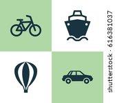 transportation icons set.... | Shutterstock .eps vector #616381037