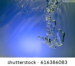 blue water and air bubbles  | Shutterstock . vector #616386083
