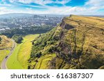 cityscape of edinburgh from... | Shutterstock . vector #616387307