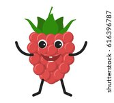 raspberry character. funny... | Shutterstock . vector #616396787