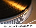 closeup of vinyl turntable  ... | Shutterstock . vector #616407593