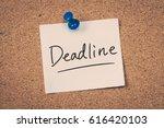 deadline | Shutterstock . vector #616420103