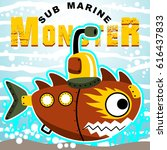 submarine monster  vector... | Shutterstock .eps vector #616437833