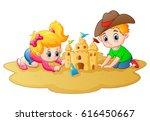 vector illustration of little... | Shutterstock .eps vector #616450667