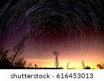 cumulative time lapse of star... | Shutterstock . vector #616453013