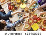 food catering cuisine culinary... | Shutterstock . vector #616460393