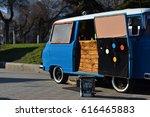 food truck on wheels | Shutterstock . vector #616465883