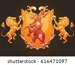 vector image of a gold heraldic ...   Shutterstock .eps vector #616471097