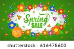 spring sale banner  vector... | Shutterstock .eps vector #616478603